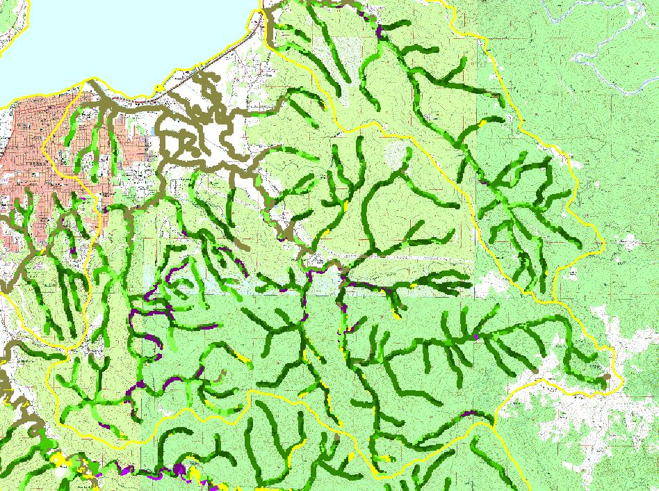 Area Freshwater CreekRyan Slough Topic Map F USFS Riparian - Map of us forest service labs
