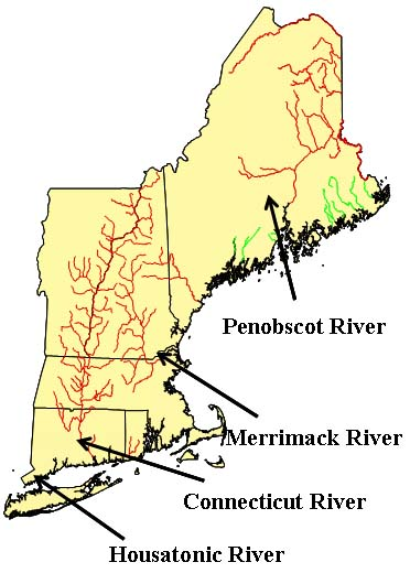 Sheepscot River Hypothesis - Map of maine rivers